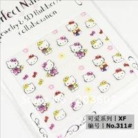 Nail Art Sticker Beauty Kitty Pattern 24 Different Design 240pcs/Lot 3D Nail Sticker Freeshipping Wholesale