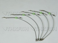 Free EMS/DHL/FEDEX! 300pcs pack 15cm Salt Water Fishing Rigs Glow Bead Stainless Steel Line Swivles Fishing Tackle