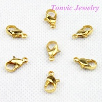 Free Shipping 200 Shining Gold Alloy Lobster Clasp 12X7 mm 120518GHH-LC502G