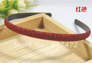 """$15 off per $150 order"" Red Glitter Powder Hair hOOP Jewely findings Freeshipping"