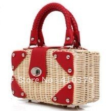 Hawaii Beach Style Straw handbag fashion 2012 new Free Ship,hand made fashion Totes summer bag wholesale and retail Promation!