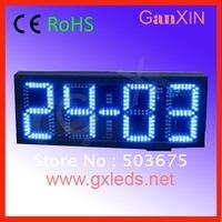 glass covered digital outdoor led sensor mirror clock
