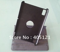 free shipping  360 degree  rotating  Leather Cover for Acer Iconia A200  Black .wholesale