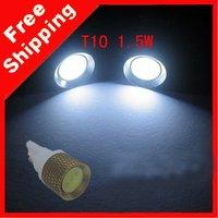 White T10 1.5W 12V 1SMD LED Wedge Light Bulb Lamp Free Shipping