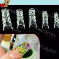 New 150pcs False Nail Tips Mosaic French Transparent Acrylic UV Gel  Salon DIY 4055