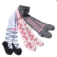 Free shipping cute girl wear Promotion Cotton baby tights ,12pcs/lot Pantyhose stockings M-02