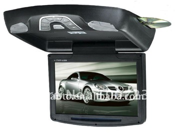 "free shipping!11"" roof mount car dvd player with game digital panel /USB SD slot"
