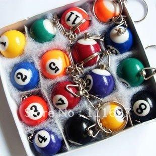 Free Shipping big billiards key ring /bird keychain/great gift/cufflinks wholesale Ll-01-120