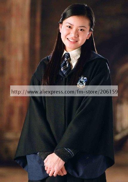Harry Potter Robe Halloween Ravenclaw Cloak Blue Cosplay Costume(China (Mainland))