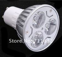FREE SHIPPING 5pcs/lot non-dimmable 3W CE GU10 High Power LED Lamp Light Spotlight warm white/day white
