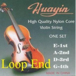 10 sets Violin Strings Set, 4/4, 1st E Loop End, Synthetic Perlon Core, Medium-Strong Tension, the 4th G Silver Wound, PV400(China (Mainland))
