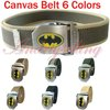 HOT selling!High quality canvas! BATMAN Stainless Steel Buckle,men's women's unisex sports casual fashion canvas belt, 9 Colors.
