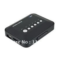 Wholesale --New 720p HD Media Center RM/RMVB/AVI/MPEG TV Player With USB SD/MMC Port