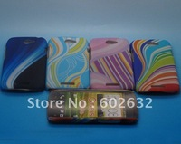 2pcs free shipping Seven rainbow Hard Case Cover For HTC One S Z520E +1pcs screen protect