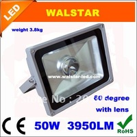 Free shipping 50W CE ROHS 60 degree with lens floodlight on hot sale top grade warranty for 2years