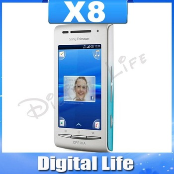 X8i Unlocked Mobile Phone Original Sony Ericsson Xperia X8 E15i 3G 3.15MP WIFI GPS Bluetooth Free Shipping In STOCK