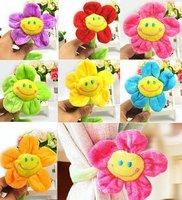 Wholesale Household Creative Colorful Cartoon Sunflower Curtain Buckle -10pcs