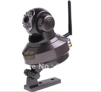 Профессиональный камкордер WIFI IR Nightvision 20m, High speed, Dome, Two way audio IP camera H.264 Mini Wifi Speed PTZ IP Camera HS-691C-P1D3