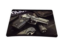 Police Gun Colorful Optical Laser Mouse Mice Pad Mat Mousepad