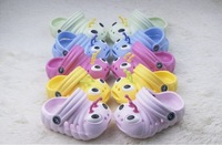 Free shipping!Wholesale 12pair! HOT!Cartoon caterpillar children garden shoes cool slippers baby   shoes(12pair/lot) Small yards