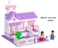 Enlighten Child M38-B0156 Educational honey cabin 193 pcs Compatible With Ligo Assembles Particles Block Toys Free Shipping