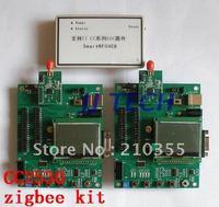free shipping,CC2530 zigbee development kit ,Smartrf04EB emulator + 2 zigbee board + LCD display