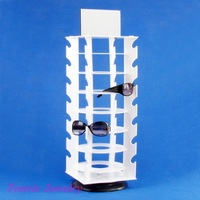 Free Shipping Rotating Sunglass Display Stand Holder For 28 Pairs 120522LJ-SUS01