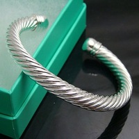B030 Free shipping 1 piece 925 silver bracelets bangles fashion beautiful weaves bangle cuff jewelry for gift