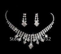 MIN.ORDER $15,shining jewelry set for bride, rhinestone fulfilled