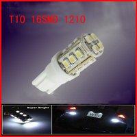 T10 16SMD 1210 car lights indicator pilot lamp Car LED Light Automobile Bulbs Lamp tail light  Free Shipping