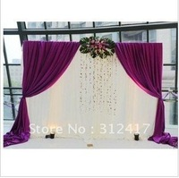 Free shipping wholesale and retail  lovely  3m*3m wedding backdrops , wedding backcloth ,any size and color can make as you like
