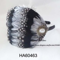 Free shipping! Wholesale-12pcs/lot headband with full feather