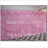 Free shipping Hotsale 3m*6m 100% polyester knitting wedding backdrops, wedding background can be customized
