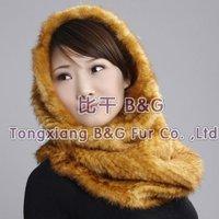 BGTLW07 New Style 2 Colors Genuine Knitted Mink Fur Scarves Elastic Women's Winter Collar Natural Mink Fur Scarves