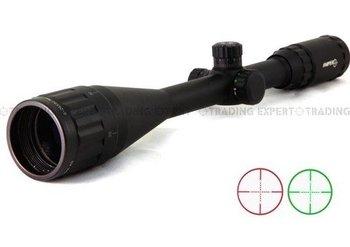 Sniper 6-24x50 AO Red Green Mil-Dot Riflescope Free shipping