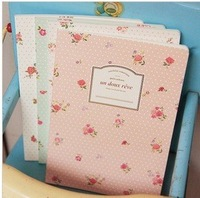 free shipping 10pcs/lot Garden floral Notebook  ,writing pad,fashion stationery