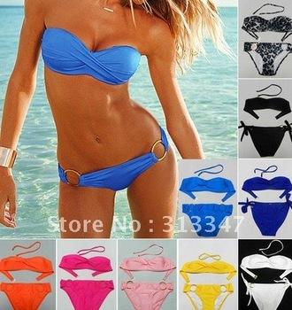 Summer Super Sexy Bikini with PAD Swimsuits Bikinis Beachwear Swimwear Swimming Suit dress Free Shipping k80185