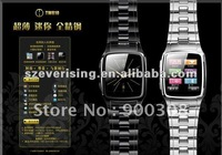316 Stainless Steel TW810 Watch Mobile Phone 1.6 inch Touch Screen GSM Quad Band Camera Bluetooth Silver/Black