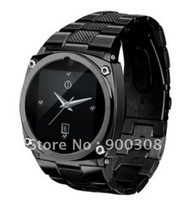 Free Shipping TW818 Watch Mobile Phone 1.6 inch Touch Screen GSM Quad Band Camera Bluetooth Silver/Black