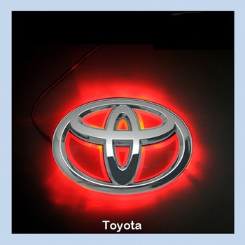 Toyota Camry LED Car Decal Logo Tail Light Badge Emblem Sticker Lamp Red Light