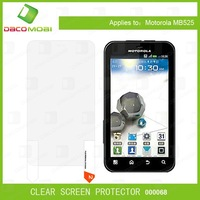 1000PC For Clear Transparent Screen Front Protector with Cleaning Cloth For Motorola MB525 Defy  Free Shipping