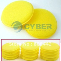 12 Polish Round car cleaning wash sponge / sponge wax Free Shipping sv10 2772