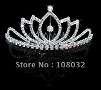 MIN.ORDER $15,brilliant crown made up by several separated leaves,a bigger crystal inside