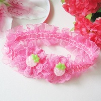 Free Shipping--strawberry with headbands pink and hotpink for your choose 12pcs/lot