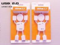USB 4ports hub Promotions HIGH SPEED 4 PORT HUMAN SHAPE LAPTOP/PC 50 pcs a lot