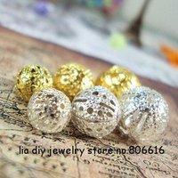 Смешайте цвета Камелия 15 мм 40pcs смолы Каменный порошок цветок потерять шарик нити ювелирные изделия Бисер выводы