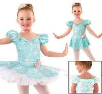 2012 cute kid Princess TuTu dance skirt 1~15T,child glitter ballet perform wear,baby ballet dancewear,infant ballet dance dress