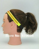 free shipping yellow real leather with elastic for length adjustable softball seam headband