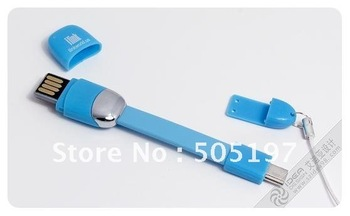 Samsung Galaxy S3 smart strap mobile phone charms micro sd card reader usb data power cable FREE SHIPPING