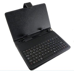 "7"",8"",10"" USB Tablet PC Leather Keyboard Case for ZT180,Flytouch X220 tablet pc can customize Russian Thai,Arabic Etc. keyboard(China (Mainland))"